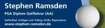 Logo Stephen Ramsden Golftraining und Golfartikelvertrieb